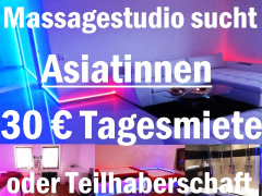 Asiatinnen für exclusives Massagestudio in Festanstellu